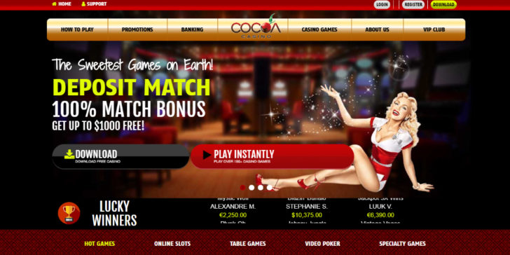Review about Cocoa Casino Welcome Bonus First Deposit Bonus Cocoa Casino Bonus Online Casino Bonuses Sign Up Bonus New Player Bonus Online Gambling Sites Online Gambliing bonuses Online gambling Promotions Online Casinos GamingZion