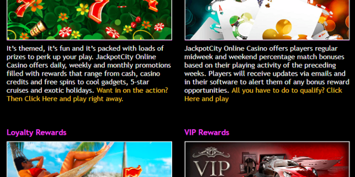 These are the promotions at Jackpot City Mobile Casino
