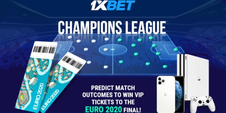 Win Euro 2020 Final tickets upon participating in the latest 1xBET Sportsbook promotion