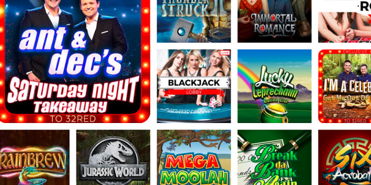 Featured Games at 32Red Mobile Casino