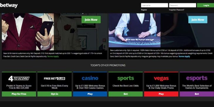 about betway mobile casino