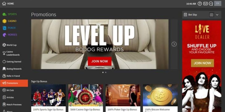 Bodog sports bonus sign up