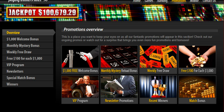 These are the available mobile casino promotions at Slotland Casino