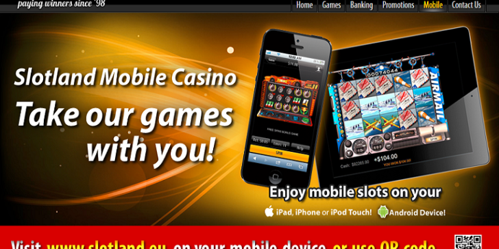 Slotland Mobile Casino Main Page