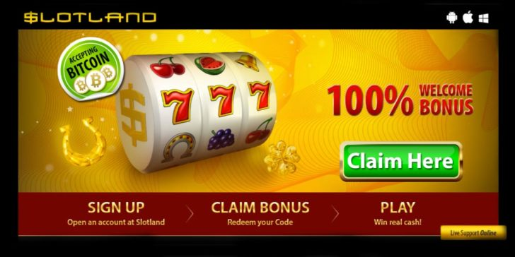 Review about Slotland Casino Welcome Bonus