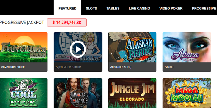 Games at All Jackpots Mobile Casino