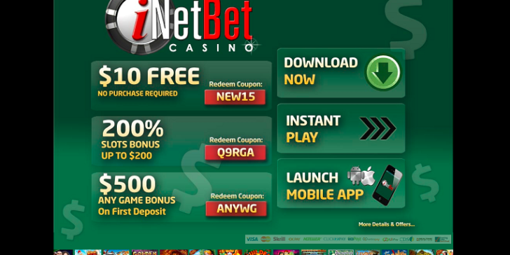 iNetBet Mobile Casino Promotions