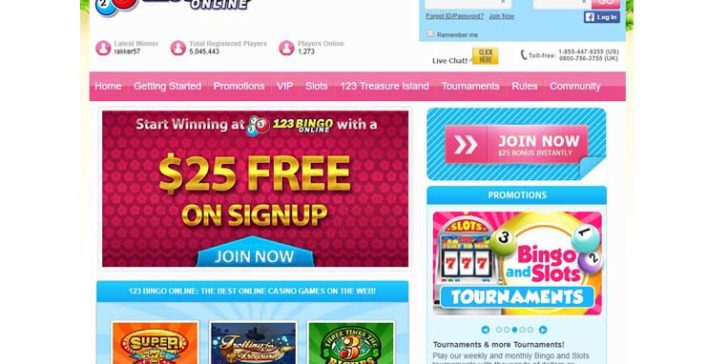 review about 123bingo online