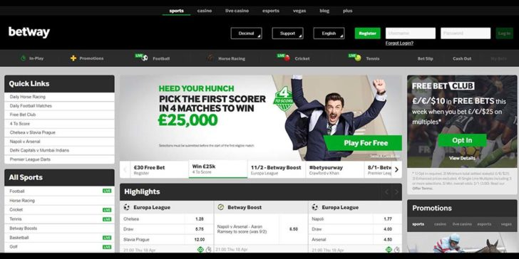 reiew about betway sportsbook