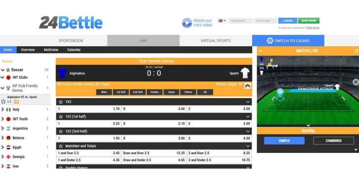 review about 24bettle sportsbook