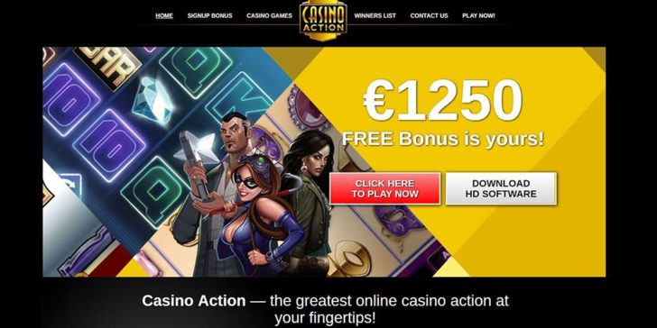 review about casino action