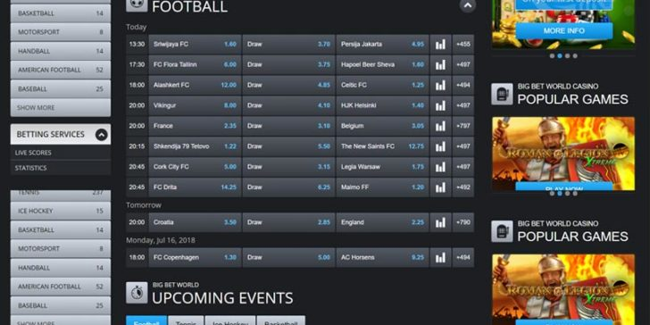Review about Big Bet World Sportsbook - GamingZion