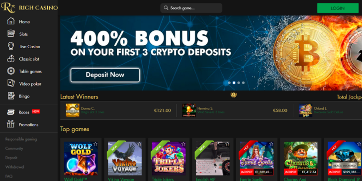 About Rich Casino Games, Bonuses, Banking Methods and More | GamingZion