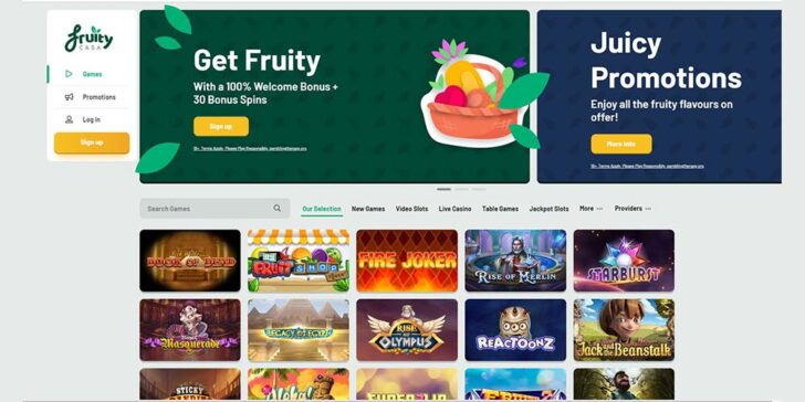 review about fruity casa casino