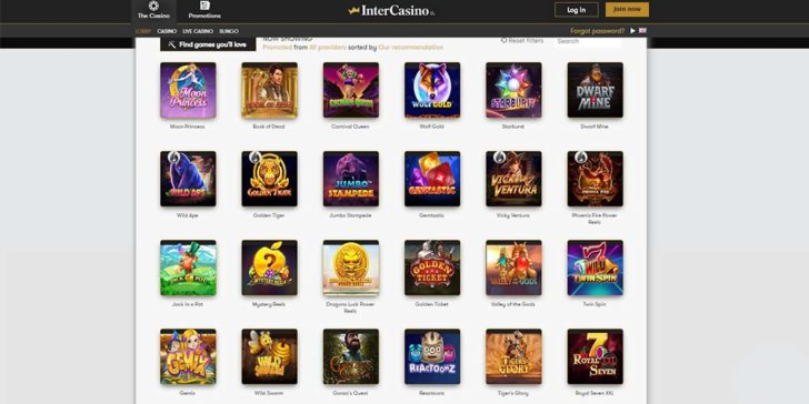 review about intercasino