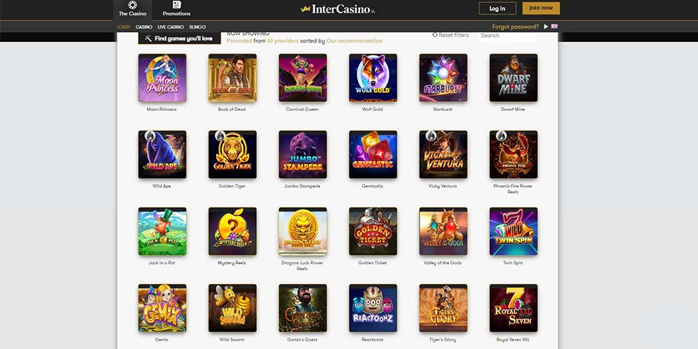 About Intercasino Bonuses Promotions Games And More Gamingzion
