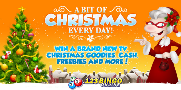 Christmas promotions at 123Bingo Online