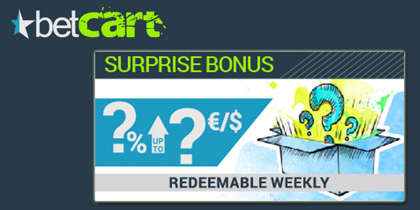 BetCart Sports Surprise Weekly Bonus Code promo