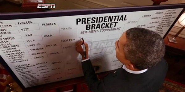 Celebrity March Madness Brackets from Obama to Kanye West and Back