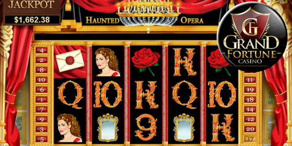 Grand Fortune Casino Haunted Opera slot with coupon code promo