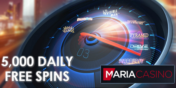 Maria Casino daily free spins promo