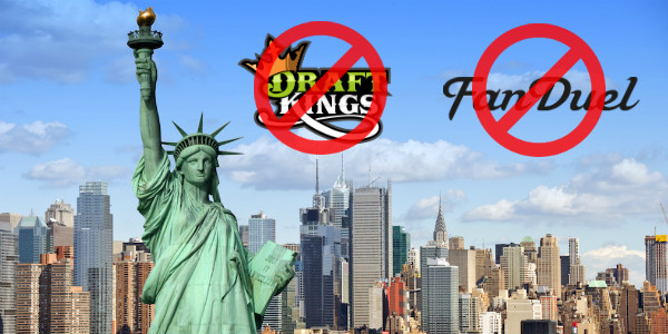 DraftKings and FanDuel Stop New York Real Money DFS daily fantasy sports Contests