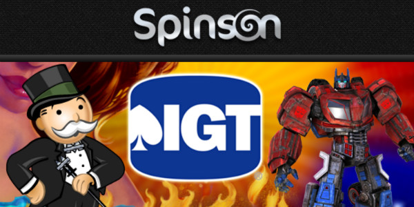 Spinson Casino IGT games double loyalty points promotion