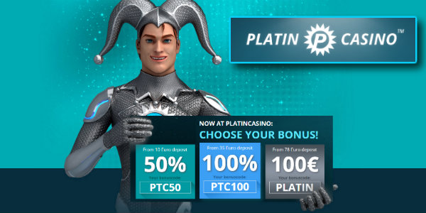 Platin First Deposit Bonus Code promotion at Platin Casino