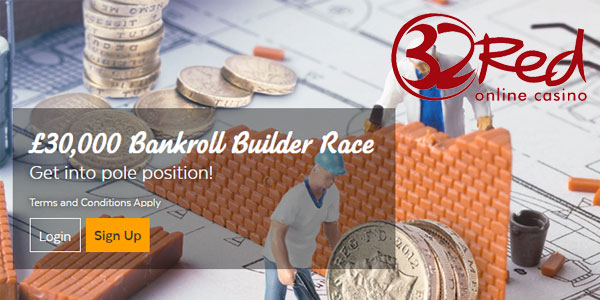Earn Huge Cash Prizes This Week with 32Red Casino's Bankroll Builder!