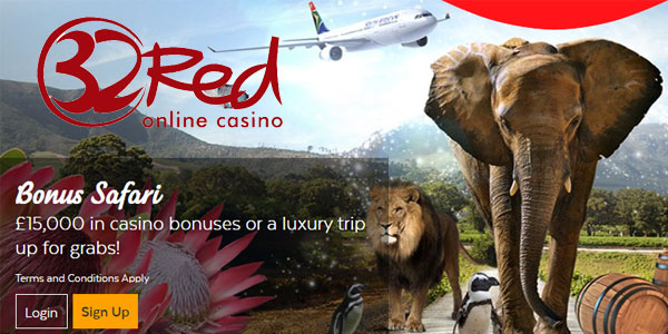 Earn a Free Safari Trip to South Africa this Month at 32Red Casino!