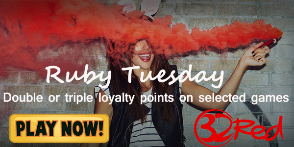 32Red Casino Ruby Tuesday Promo