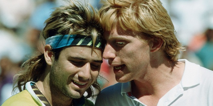 Andre Agassi Boris Becker terrible eighties haircut