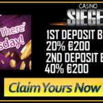 Get Ready for the Weekend with 20% and 40% up to €400 Bonuses at Casino Sieger!