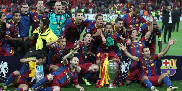 Barcelona Champions League victory 2011