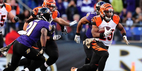 Bengals vs. Ravens betting odds