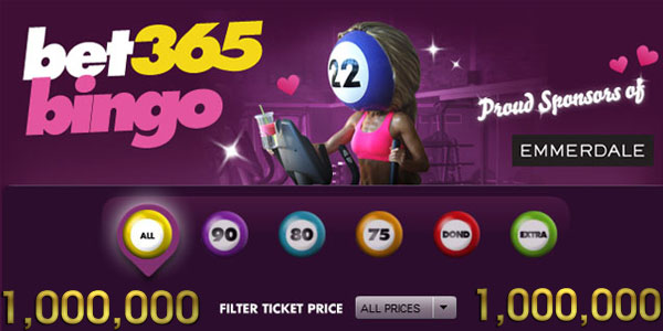 Join Bet365 Bingo for your chance to win a share of £1,000,000!