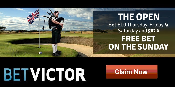BetVictor Sportsbook The Open promo