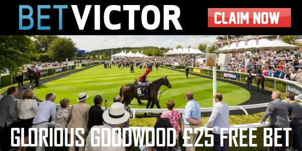 Enjoy the GBP 25 Free Bet for BetVictor Sportsbook's Goodwood Promotion