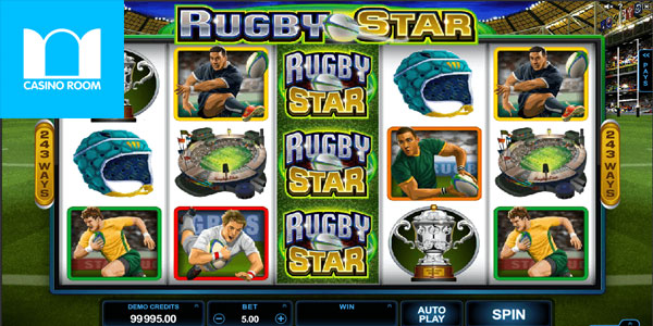 Play the Rugby Star Slot at Casino Room