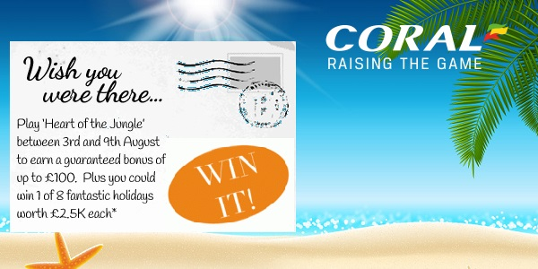 100,000 Pounds to Win in Giveaways at Coral Casino!