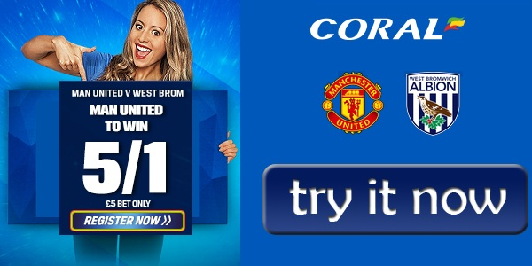 Coral Spoersbook enhanced Odds for Man Utd