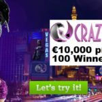 Play in Crazy Vegas Casino's Sure Win Cup which Offers a Prize Pot of EUR 10,000