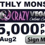 Play at Crazy Vegas Casino's Tourney and Win your Share of the EUR 25,000 Prize Pot