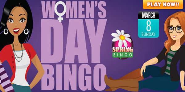 Women's Day Bingo games+CyberBingo+ Buy 6 and Get 3 Free+ March 8th6:00PM EDT