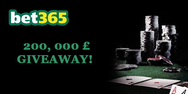 Claim your share of GBP 200,000 at Bet365 Poker