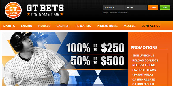 Join GT Bets TODAY and Receive a CASH Sign-Up Bonus