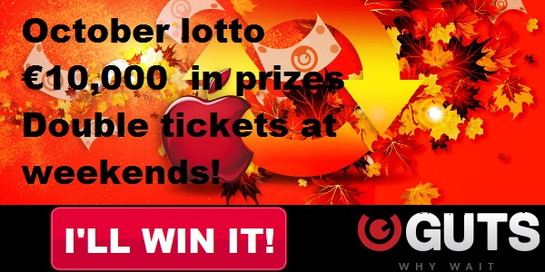 Get a Share of 10,000 Euros with GUTS Casino Lotto Promo