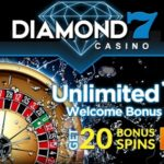 Sign Up Now for a Dazzling Unlimited 100% Welcome Bonus at Diamond 7 Casino!
