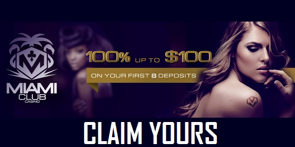 Miamo Club Casino welcome bonus
