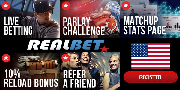 RealBet Sportsbook promo for betting online from the US